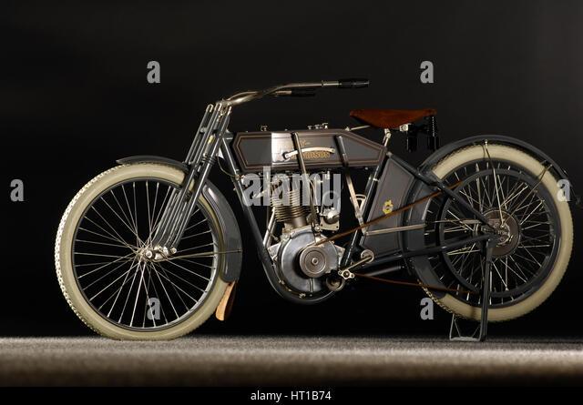Harley Davidson model X8A 1912. Artist: Simon Clay. - Stock Image