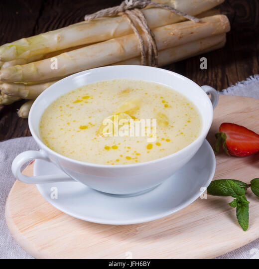Asparagus Cream Soup - Stock Image