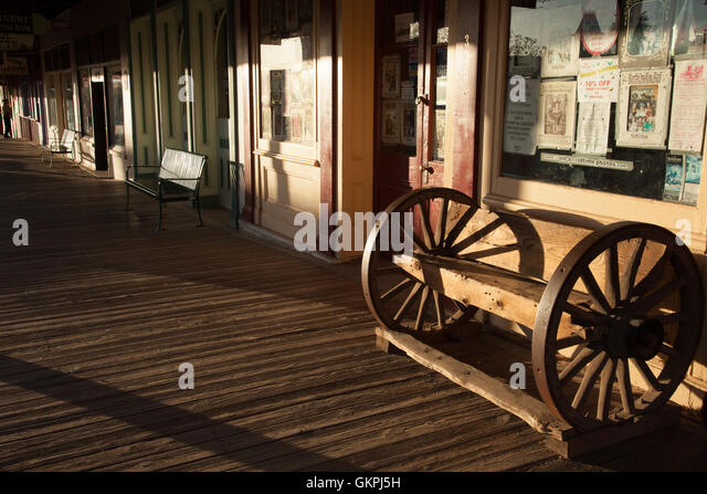 The sunsets in Tombstone, Arizona. - Stock Image