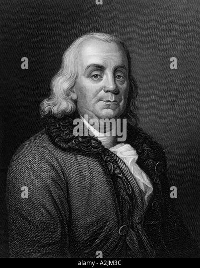 BENJAMIN FRANKLIN US scientist and politician 1706 90 - Stock Image