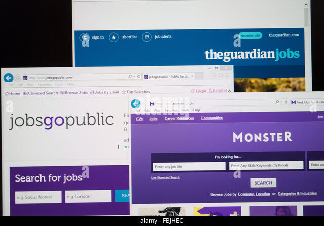 online job search websites - Stock Image