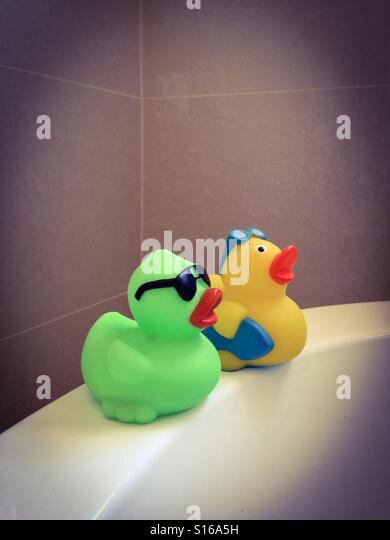 bath tub ducks stock photos bath tub ducks stock images alamy. Black Bedroom Furniture Sets. Home Design Ideas