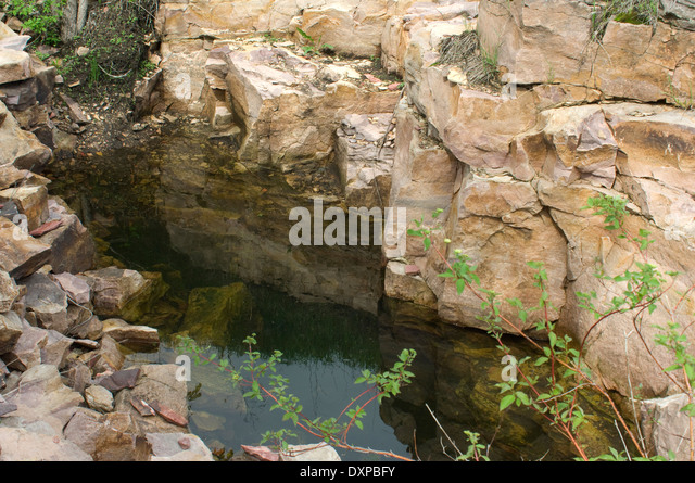 Quarry for pipestone, used to make Native American pipes, Pipestone National Monument, Minnesota. - Stock Image