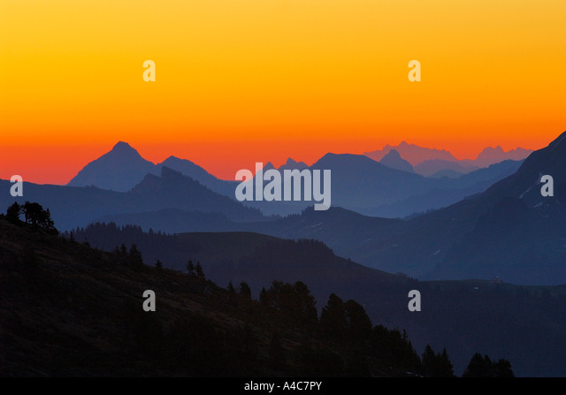 Sunrise at the Alps. Switzerland Bern, Bernese Oberland - Stock-Bilder