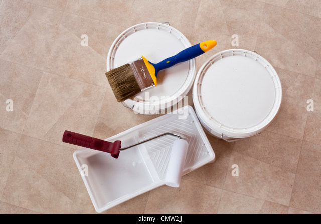 Paint material - Stock Image