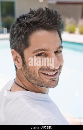 Man smiling - Stock-Bilder