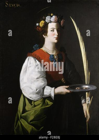 Francisco de Zurbarán - Saint Lucy - Stock Image