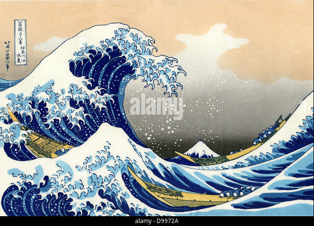 Hokusai (1760-1849) Japanese artist. 'The Wave' - Stock Image
