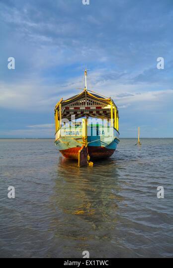a boat Morro de sao paulo Brazil south america - Stock Image