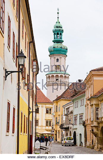 Europe, Hungary, Sopron, View of Fire lookout tower - Stock Image