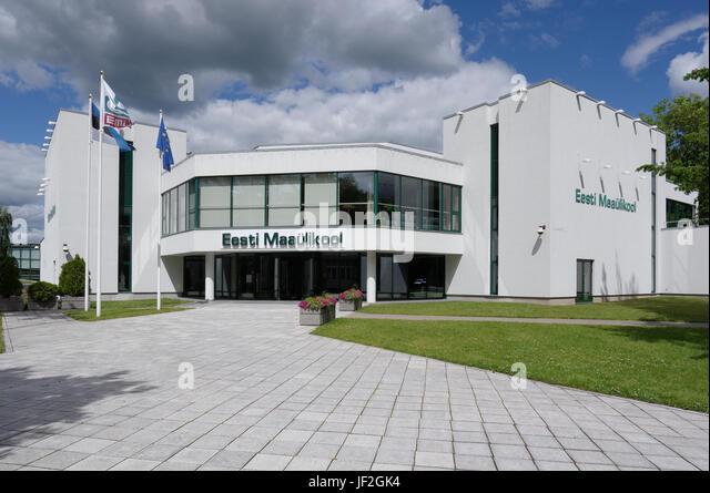 Main building of the Estonian University of Life Sciences. Tartu 28th June 2017 - Stock Image