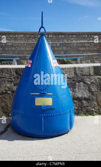 RNLI collection box at Dun Laoghaire harbour, Dublin - Stock Image