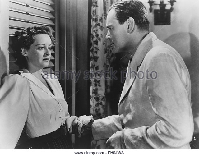 THE LETTER (1940) Left to right:  Bette Davis, Herbert Marshall.  Courtesy Granamour Weems Collection. Editorial - Stock Image