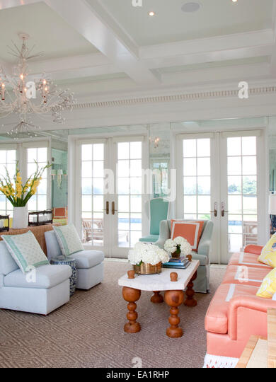 interior of summer guest cottage - Stock Image