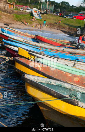 Easter island fishing stock photos easter island fishing for Fishing row boats