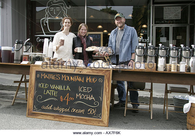 West Virginia Lewisburg Taste of Our Towns Mattie's Mountain Mud coffee - Stock Image