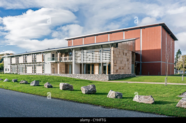 Highland Archive & Registration Centre by the River Ness in Inverness Highland Scotland - Stock Image