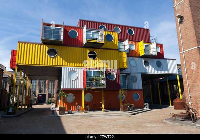 Container City, Trinity Buoy Wharf, Tower Hamlets, London, England, UK. - Stock-Bilder