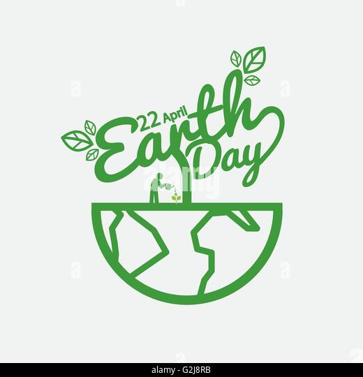 Earth Day Vector Illustration - Stock Image
