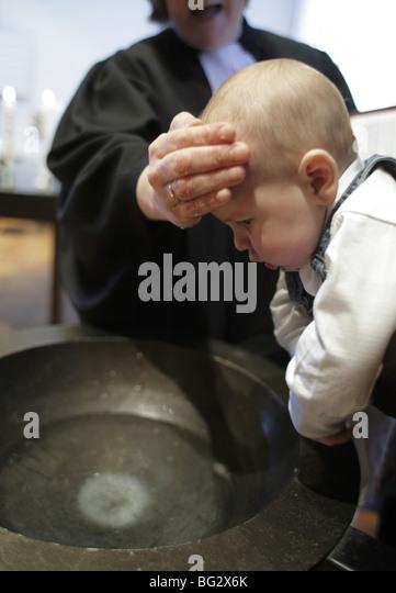 Baptism . Duelmen - Stock-Bilder