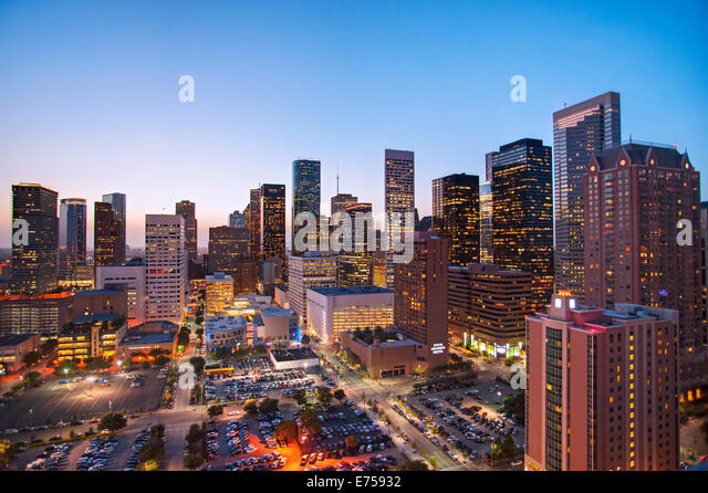 Skyline of Houston, Texas - Stock-Bilder