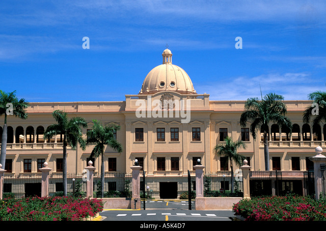 Dominican Republic Santo Domingo the National Palace - Stock Image