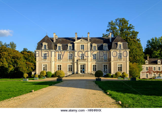 Park and castle of Lathan, dated 17th to 18th century, Breil, Maine et Loire, Anjou, France - Stock-Bilder