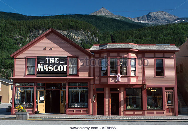 Alaska Skagway Broadway Mascot Saloon now a gift shop historic gold rush town - Stock Image