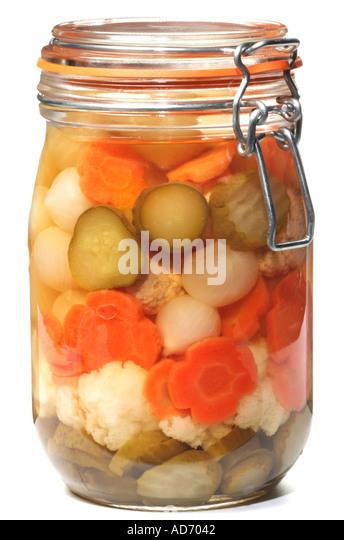 PICKLING JAR - Stock Image