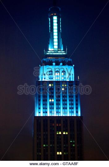 Empire State Building Blue For Frank Sinatra