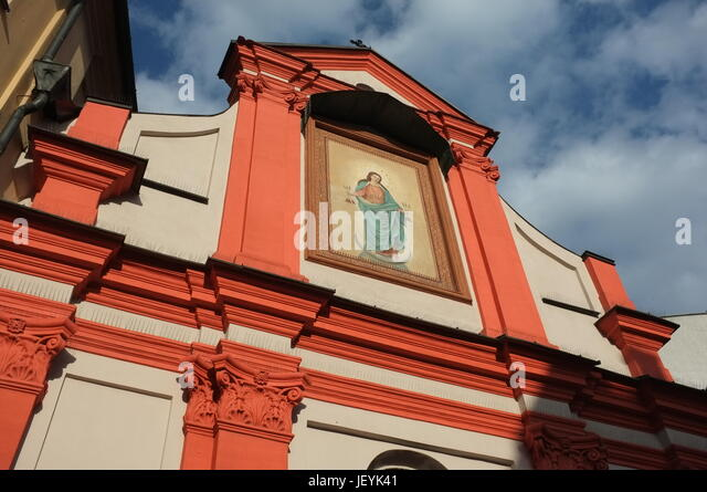 Church of St John the Baptist and St John the Evangelist in Old Town, Krakow, Poland, Central/Eastern Europe, June - Stock Image