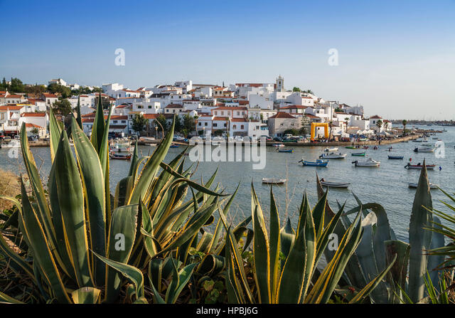 Portugal Algarve Ferragudo village - Stock Image