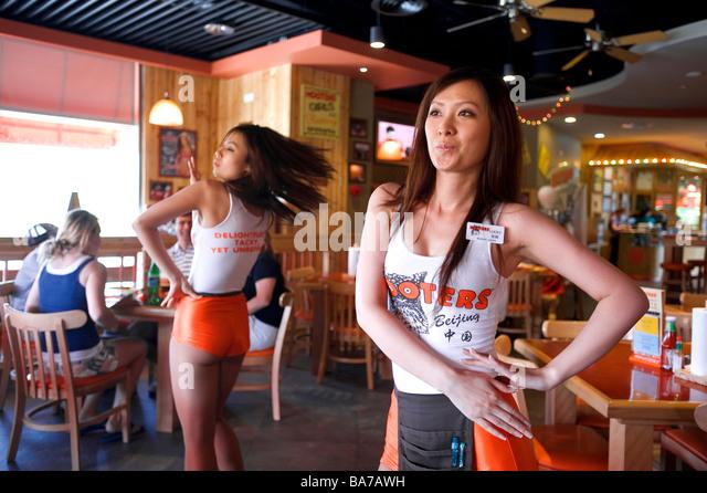 Abby Hooters Calendar May : Hooters restaurant stock photos
