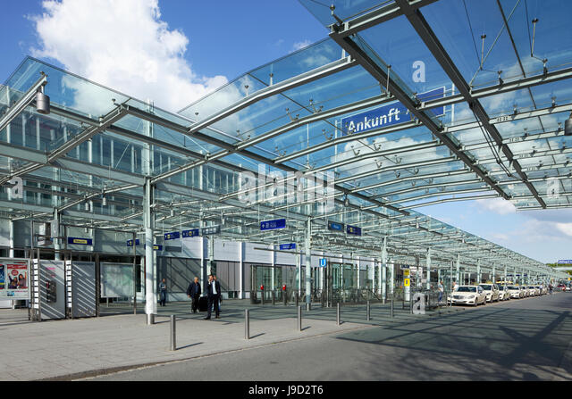 Albrecht Dürer Airport, arrivals hall, Nuremberg, Middle Franconia, Franconia, Bavaria, Germany - Stock-Bilder