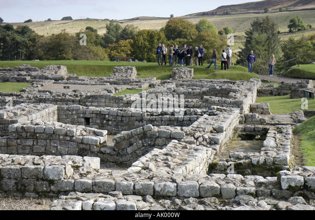 England UK Bardon Mill Hadrians Hadrian's Wall Vindolanda Roman Fort and Museum 3rd Third century - Stock Image