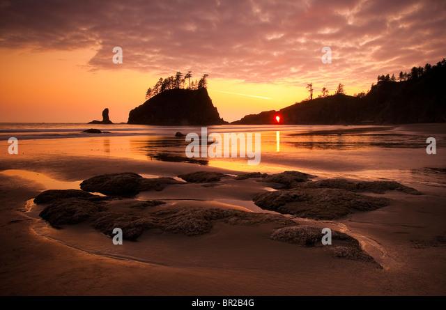 Second Beach, Olympic National Park, Washington. - Stock Image