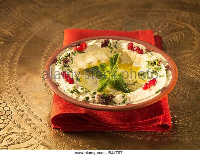 Mutabbal (Aubergine puree, Lebanon) - Stock Image