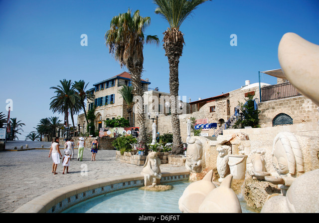 Kdumim Square in Old Jaffa, Tel Aviv, Israel, Middle East - Stock Image