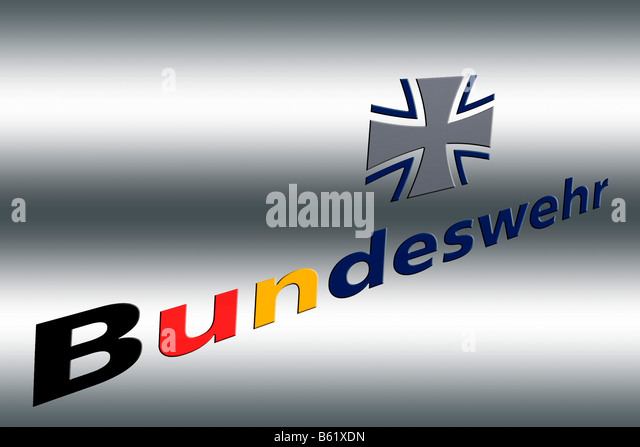 Bundeswehr in writing, graphic and image editing - Stock Image