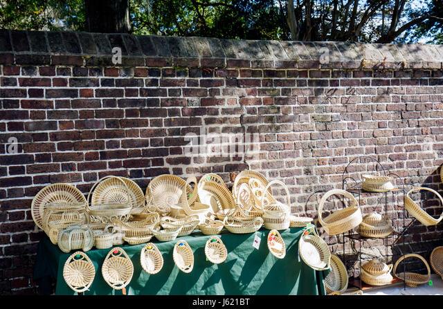 Charleston South Carolina National Historic Landmark Historic District Meeting Street Gullah Geechee culture sweet - Stock Image