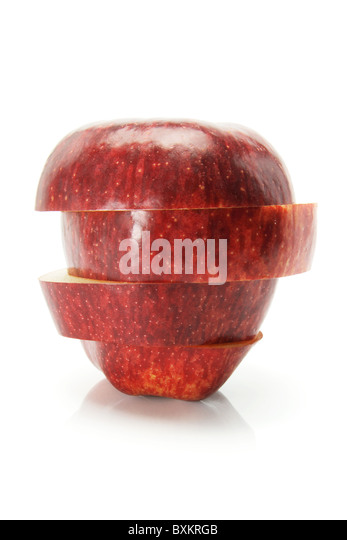 Slices of Red Delicious Apple - Stock Image