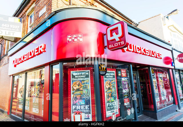 Quicksilver is a British amusement arcade and gambling machine company. It is the UK's largest slot gambling - Stock Image
