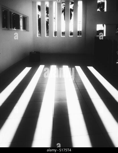 Shadows casted by narrow windows - Stock-Bilder