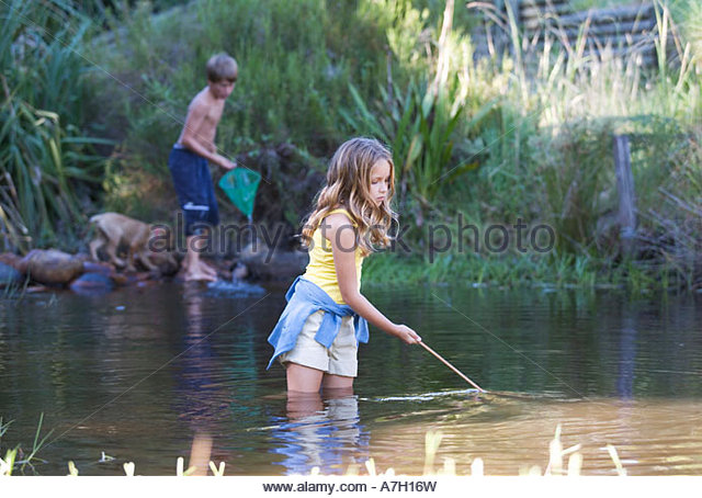 Kids fishing nets stock photos kids fishing nets stock for Kids fishing net
