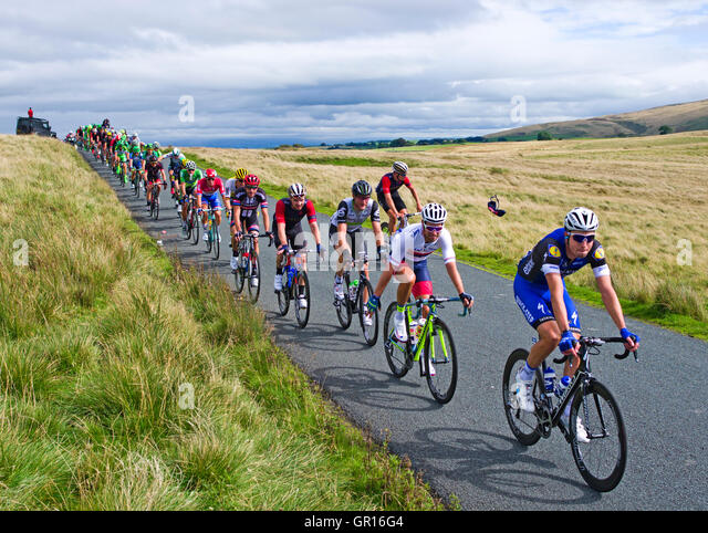 Caldbeck fells, Cumbria, UK. 5th September, 2016. Cumbria, Stage 2, Tour of Britain 05-09-16. On open moorland on - Stock-Bilder
