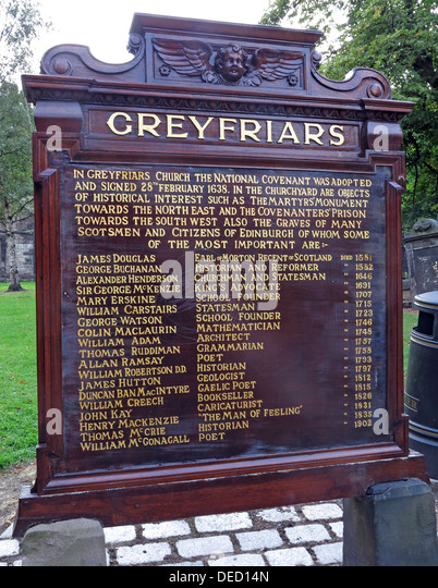 Greyfriars Kirkyard entrance Edinburgh Capital City, Scotland UK - Stock Image