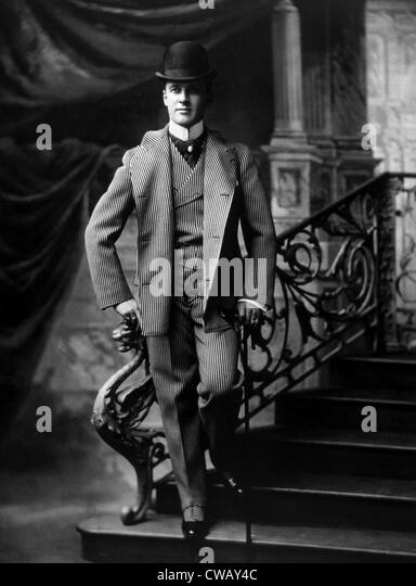 A fashionably dressed man, circa 1895. Photo: Courtesy Everett Collection - Stock-Bilder