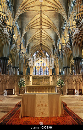Inside Lincoln Cathedral - Stock-Bilder