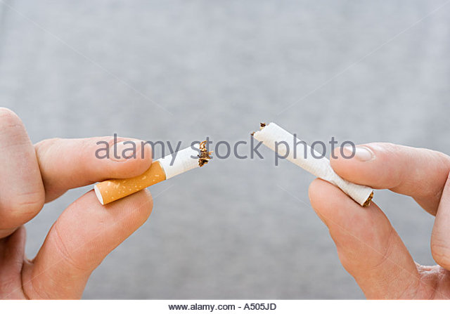 Breaking the habit - Stock Image