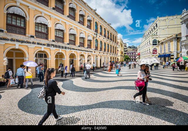 Senado Square in Macau, China. - Stock Image